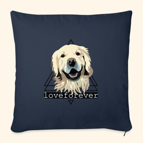 RETRIEVER LOVE FOREVER - Cojín de sofá con relleno 44 x 44 cm