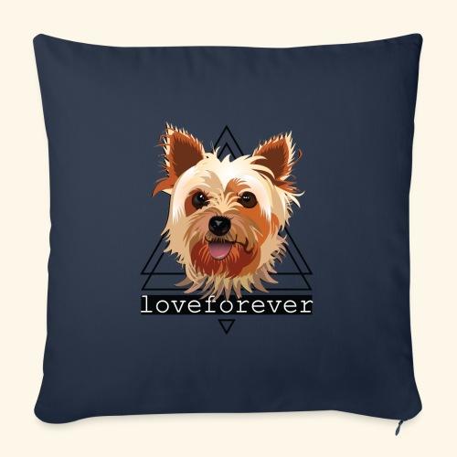 YORKIE LOVE FOREVER - Cojín de sofá con relleno 44 x 44 cm