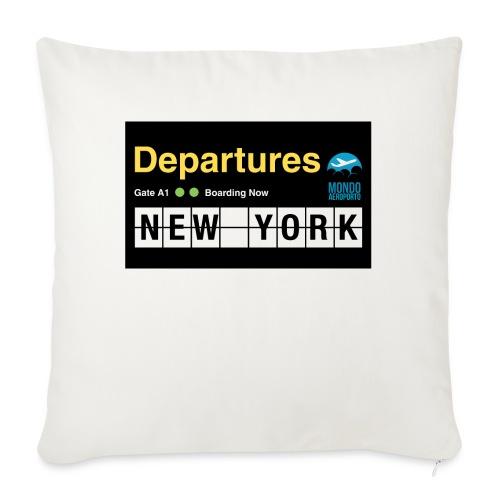 Departures Defnobarre 1 png - Cuscino da divano 44 x 44 cm con riempimento