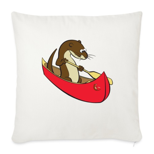 redcanoewithsticker - Sofa pillow with filling 45cm x 45cm