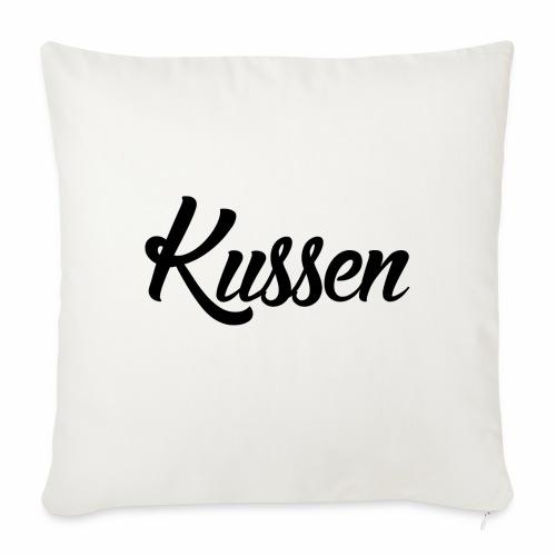 Kussen.website kussensloop zwart - Bankkussen met vulling 44 x 44 cm