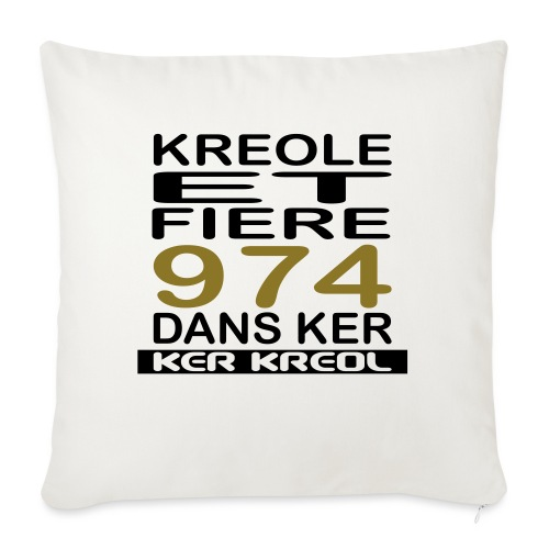 Kreole et Fiere - 974 ker kreol - Coussin et housse de 45 x 45 cm