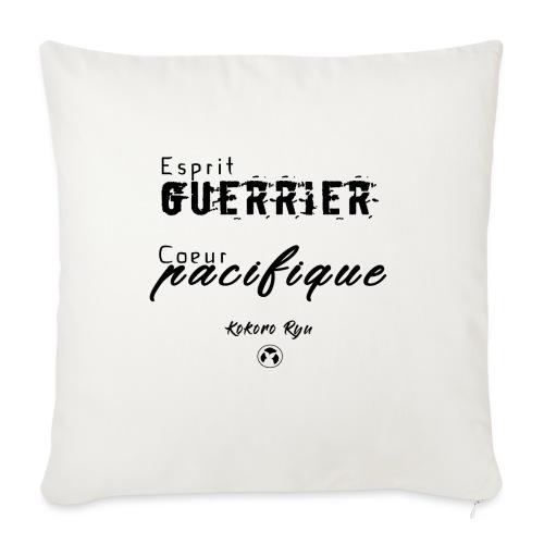 ESPRIT GUERRIER COEUR PACIFIQUE - Coussin et housse de 45 x 45 cm