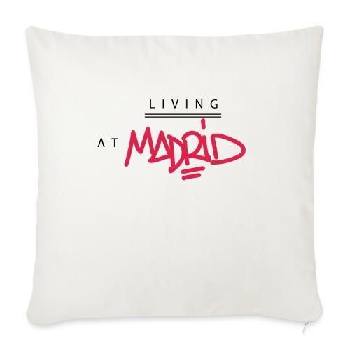 Living @ Madrid Street Letters - Coussin et housse de 45 x 45 cm