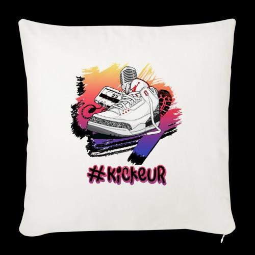 #Kickeur Noir - Coussin et housse de 45 x 45 cm