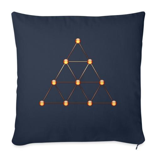 Tetraktys, Pythagoras, Heilige Geometrie, Matrix - Sofakissen mit Füllung 44 x 44 cm