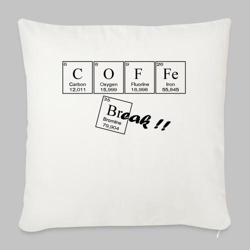 Coffee Break - Sofa pillow with filling 45cm x 45cm
