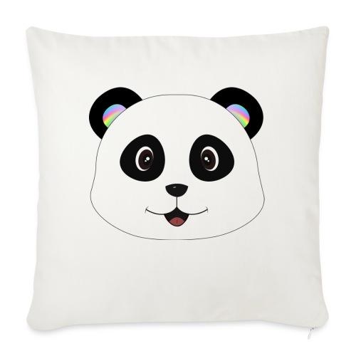panda rainbow - Cojín de sofá con relleno 44 x 44 cm