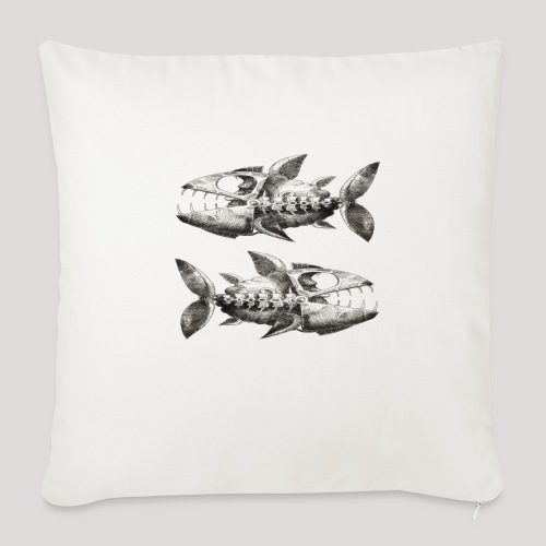 FishEtching - Sofa pillow with filling 45cm x 45cm