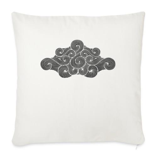 nuage noir et flocons blanc vacances d'hiver - Coussin et housse de 45 x 45 cm