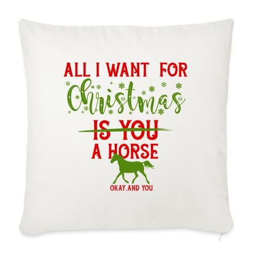 Weihnachts Wunschzettel - Pferd - Sofakissen mit Füllung 44 x 44 cm