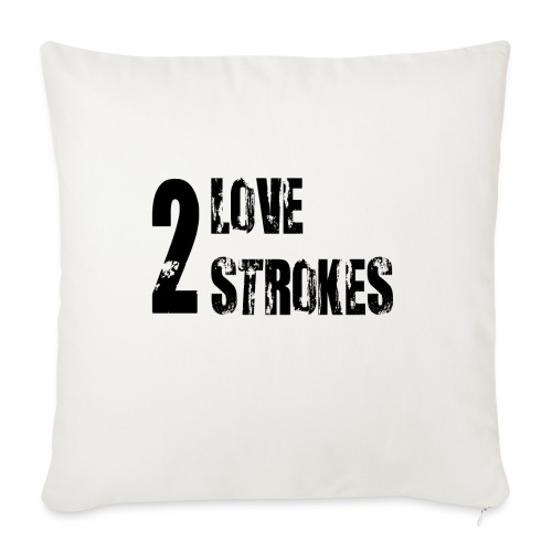 Love 2 Strokes - Cuscino da divano 44 x 44 cm con riempimento
