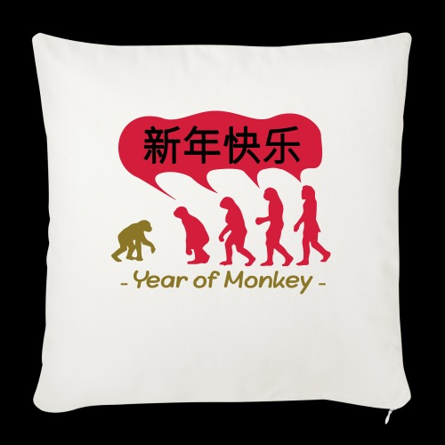 kung hei fat choi monkey - Sofa pillow with filling 45cm x 45cm