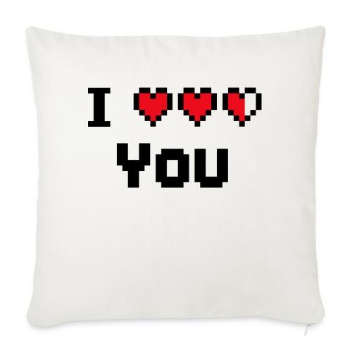 I pixelhearts you - Bankkussen met vulling 44 x 44 cm