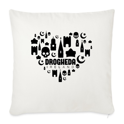 Drogheda Black - Sofa pillow with filling 45cm x 45cm