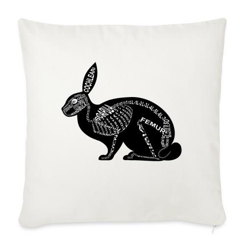 konijn skelet - Bankkussen met vulling 44 x 44 cm
