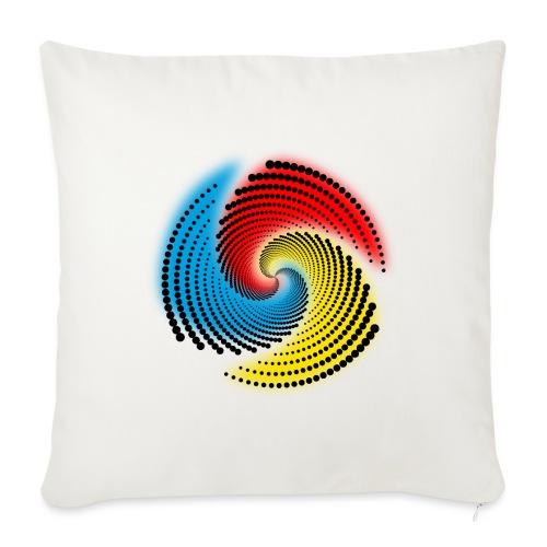 Farbspirale - Sofakissen mit Füllung 44 x 44 cm