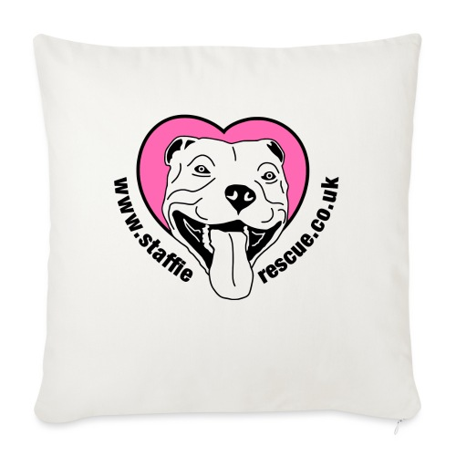 Staffie Rescue - Sofa pillow with filling 45cm x 45cm