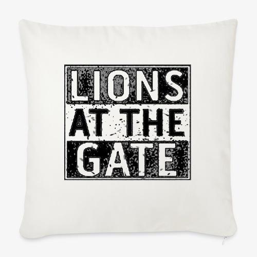 LIONS AT THE GATE BAND LOGO - Bankkussen met vulling 44 x 44 cm