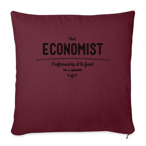 Bester Ökonom - wie ein Superheld - Sofakissen mit Füllung 44 x 44 cm