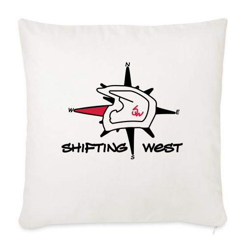 Shifting West Logo vector - Bankkussen met vulling 44 x 44 cm