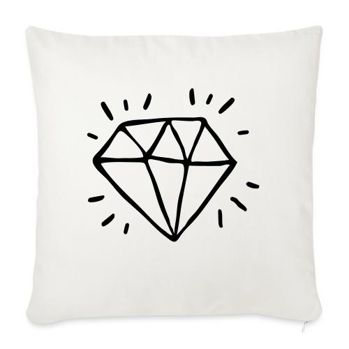diamant - Coussin et housse de 45 x 45 cm