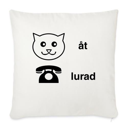 Katt åt telefon - Soffkudde med stoppning 44 x 44 cm