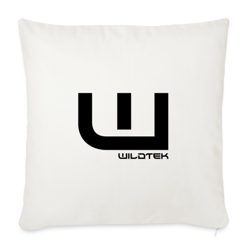 Wildtek Logo Black - Sofa pillow with filling 45cm x 45cm