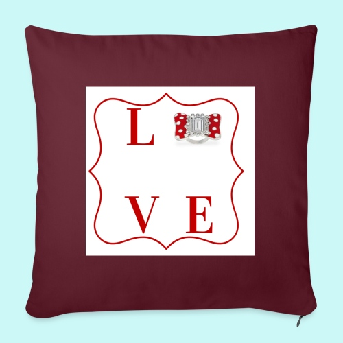 love - Sofa pillow with filling 45cm x 45cm