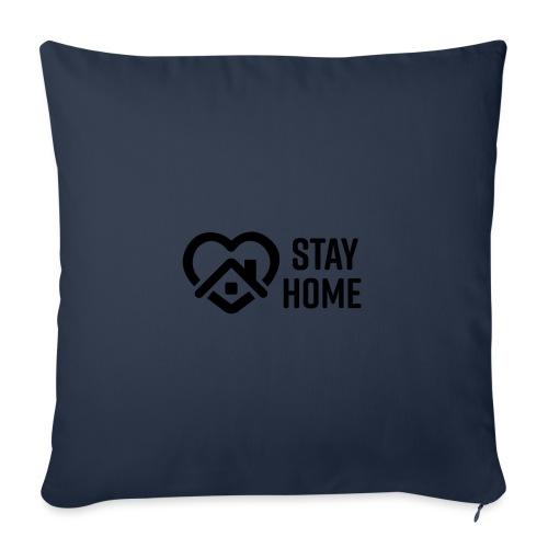 stay home, quarantine, isolation, coronavirus - Sofa pillow with filling 45cm x 45cm