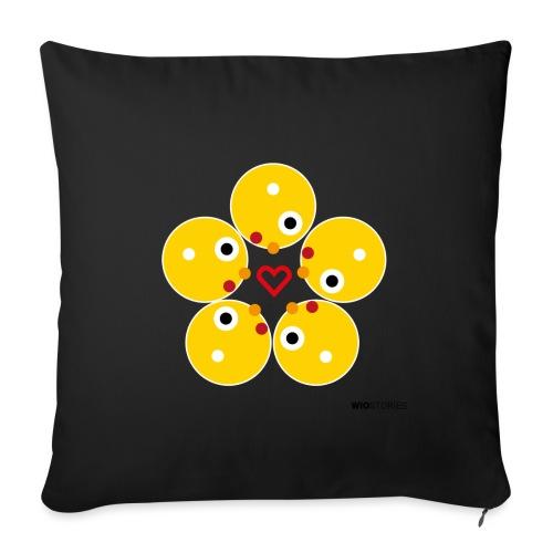 WIO LOVE - Cojín de sofá con relleno 44 x 44 cm