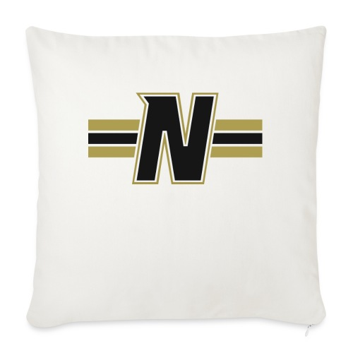 Nordic Steel Black N with stripes - Sofa pillow with filling 45cm x 45cm