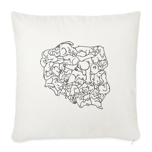 Kotowództwa - Poduszka na kanapę z wkładem 44 x 44 cm