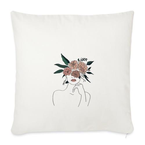 Femme fleur - Coussin et housse de 45 x 45 cm