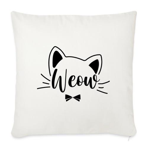 meow - Cojín de sofá con relleno 44 x 44 cm