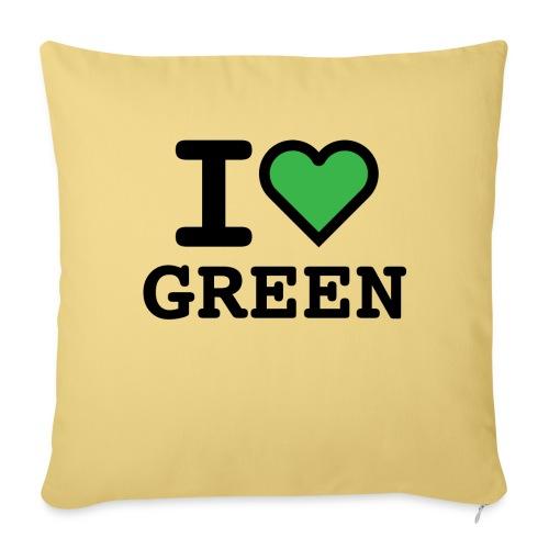 i-love-green-2.png - Cuscino da divano 44 x 44 cm con riempimento