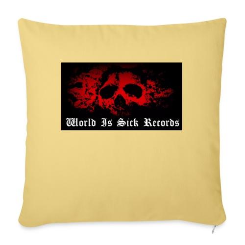 World Is Sick Skull Huppari - Sohvatyynyt täytteellä 44 x 44 cm