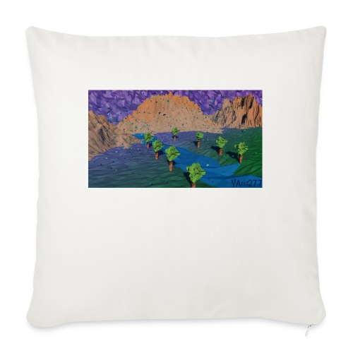 Silent river - Sofa pillow with filling 45cm x 45cm
