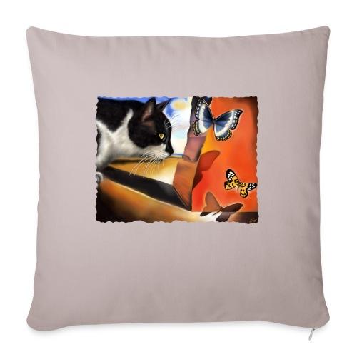 Il gatto di Dalí - Cuscino da divano 44 x 44 cm con riempimento