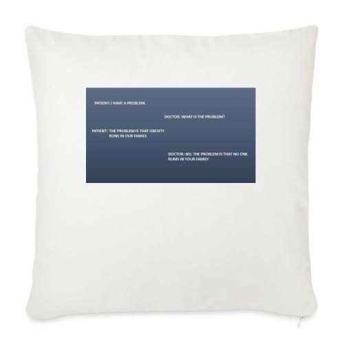 Running joke t-shirt - Sofa pillow with filling 45cm x 45cm