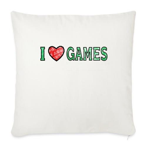 I Love Games - Poduszka na kanapę z wkładem 44 x 44 cm