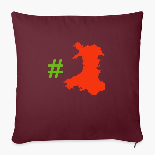 Hashtag Wales - Sofa pillow with filling 45cm x 45cm