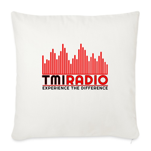 NEW TMI LOGO RED AND BLACK 2000 - Sofa pillow with filling 45cm x 45cm