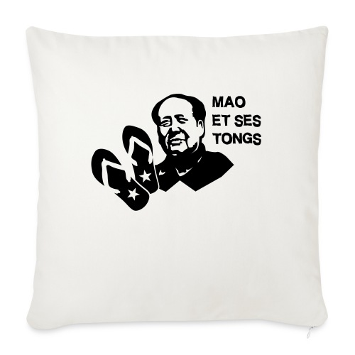 MAO et ses tongs - Coussin et housse de 45 x 45 cm