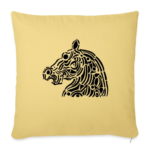 Horse - cheval tribal - Coussin et housse de 45 x 45 cm
