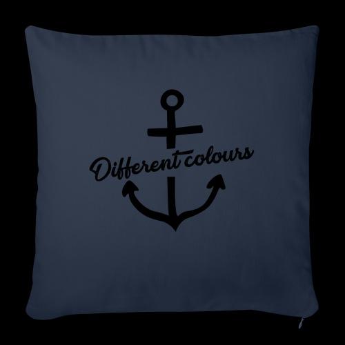 Different Colours Black Logo - Cuscino da divano 44 x 44 cm con riempimento