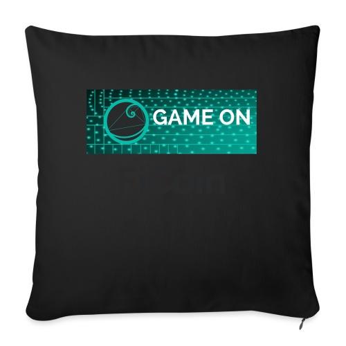 GameOn Dark Tekst - Bankkussen met vulling 44 x 44 cm