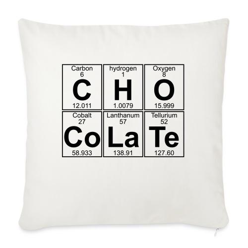 C-H-O-Co-La-Te (chocolate) - Full - Sofa pillow with filling 45cm x 45cm