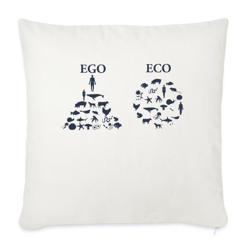 Ego VS Eco - Cuscino da divano 44 x 44 cm con riempimento