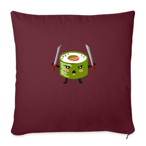 Sushi riso samurai ninja tutti i motivi - Cuscino da divano 44 x 44 cm con riempimento